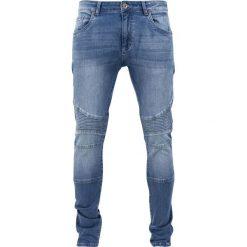 Urban Classics Slim Fit Biker Jeans Jeansy niebieski. Niebieskie jeansy męskie relaxed fit marki Urban Classics, l, z okrągłym kołnierzem. Za 199,90 zł.