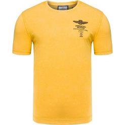 T-shirty męskie: T-shirt AERONAUTICA MILITARE Żółty
