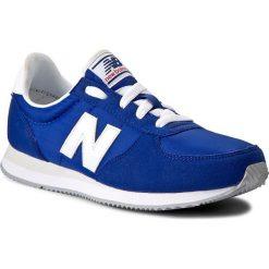 Sneakersy NEW BALANCE - KL220BLY Granatowy. Niebieskie buty sportowe dziewczęce New Balance, z materiału, na sznurówki. W wyprzedaży za 199,00 zł.