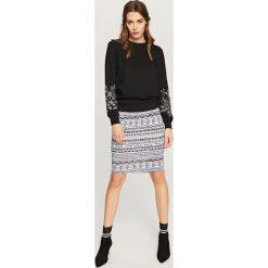 Spódniczki: Ołówkowa spódnica – Kremowy