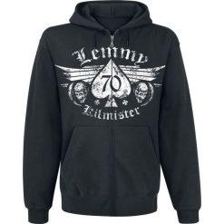 Motörhead Lemmy - Forever Bluza z kapturem rozpinana czarny. Czarne bluzy męskie rozpinane Motörhead, xl, z nadrukiem, z kapturem. Za 199,90 zł.