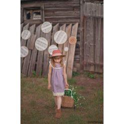 Sukienka Miss Lavender. Białe sukienki dziewczęce marki Pakamera, w koronkowe wzory, z jersey. Za 135,00 zł.