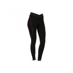 Legginsy narciarskie XWARM. Czarne legginsy marki WED'ZE, m, z materiału. W wyprzedaży za 49,99 zł.