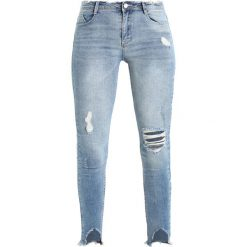 Missguided ANARCHY MID RISE STEPPED  Jeans Skinny Fit blue. Niebieskie boyfriendy damskie Missguided. Za 169,00 zł.