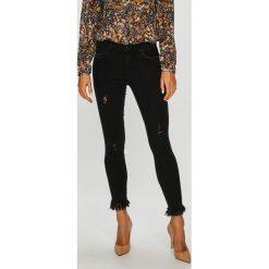 Only - Jeansy. Czarne jeansy damskie rurki ONLY, z bawełny. W wyprzedaży za 99,90 zł.