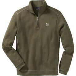 Bluza ze stójką Regular Fit bonprix ciemnoniebieski. Czarne bluzy męskie rozpinane marki bonprix. Za 79,99 zł.