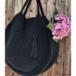 Torba Boho Circle Bag. Czarne torebki klasyczne damskie Pakamera, z bawełny, duże. Za 219,00 zł.