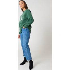 Bluzy damskie: Calvin Klein Bluza Crew Neck True Icon - Green