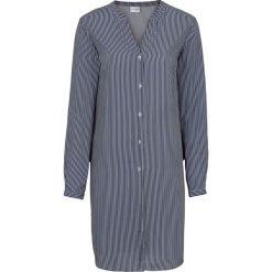 Długa bluzka bonprix biel wełny - ciemnoniebieski w paski. Niebieskie bluzki asymetryczne bonprix, w paski, z wełny, z długim rękawem. Za 79,99 zł.