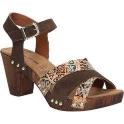 Sandały brązowe skórzane Tamaris 1-28356-28. Brązowe sandały damskie Tamaris. Za 179,99 zł.