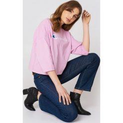 Odzież damska: Champion T-Shirt Classic Script - Pink