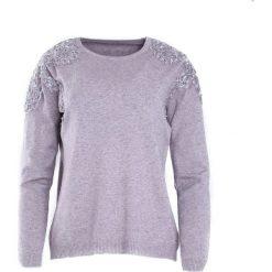 Fioletowy Sweter Two Princes. Fioletowe swetry klasyczne damskie Born2be, l, z koronki, z okrągłym kołnierzem. Za 64,99 zł.