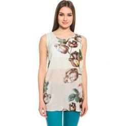 Bluzki asymetryczne: Wzorzysta bluzka na szerokich ramiączkach BIALCON