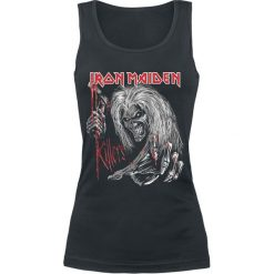 Iron Maiden Ed Kills Again Top damski czarny. Czarne topy damskie Iron Maiden, xxl, z nadrukiem, z okrągłym kołnierzem. Za 74,90 zł.