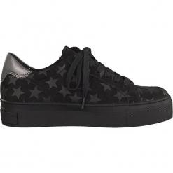 Sneakersy w kolorze czarnym. Czarne sneakersy damskie marki Marco Tozzi. W wyprzedaży za 118,95 zł.