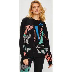 Nike Sportswear - Bluza. Czarne bluzy damskie Nike Sportswear, m, z bawełny, bez kaptura. Za 259,90 zł.