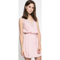 Vila - Sukienka Session. Szare sukienki mini marki Vila, na co dzień, m, w paski, z materiału, casualowe. W wyprzedaży za 119,90 zł.