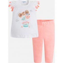 Mayoral - Komplet dziecięcy (top + legginsy) 98-134 cm. Szare bluzki dziewczęce bawełniane Mayoral, z nadrukiem, krótkie. Za 114,90 zł.
