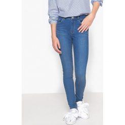 Jeansy superskinny 10-16 lat. Szare spodnie chłopięce La Redoute Collections, z bawełny, z standardowym stanem. Za 88,16 zł.