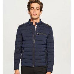 Pikowana kurtka biker - Granatowy. Niebieskie kurtki męskie pikowane marki Reserved, l. Za 169,99 zł.