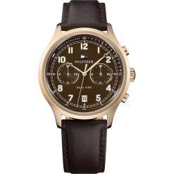 Tommy Hilfiger - Zegarek 1791387. Brązowe zegarki męskie TOMMY HILFIGER, szklane. Za 539,90 zł.