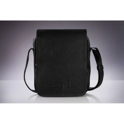 Torby na ramię męskie: Skórzana torba na ramię, raportówka Solier RUSH czarna