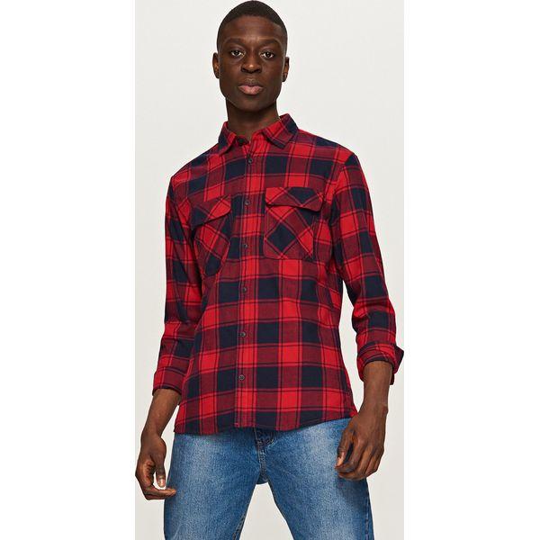 92fc830f0be33e Twillowa koszula w kratę - Czerwony - Czerwone koszule męskie ...