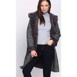 Płaszcze damskie: Ciemnoszary Płaszcz Regularly