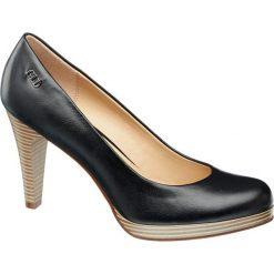 Czółenka damskie Graceland czarne. Czarne buty ślubne damskie Graceland, z materiału, na obcasie. Za 79,90 zł.