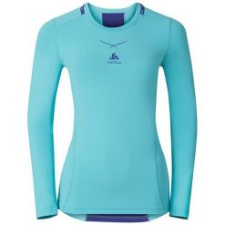 Odzież damska: Odlo Koszulka damska Ceramicool Pro Shirt l/s Crew Neck Niebieska r. S (160101)