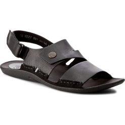 Sandały NIK - 06-0227-00-0-01-00 Czarny. Czarne sandały męskie skórzane Nik. W wyprzedaży za 159,00 zł.