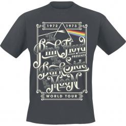 Pink Floyd Dark Side Of The Moon Typography T-Shirt ciemnoszary. Szare t-shirty męskie marki Pink Floyd, s. Za 74,90 zł.