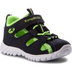 Sandały KANGAROOS - Rocky Lite 0130A 000 481 Navy/Lime. Niebieskie sandały męskie skórzane marki KangaROOS. Za 129,00 zł.