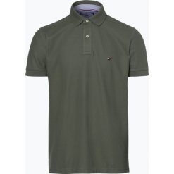 Tommy Hilfiger - Męska koszulka polo, zielony. Szare koszulki polo marki TOMMY HILFIGER, z bawełny. Za 279,95 zł.
