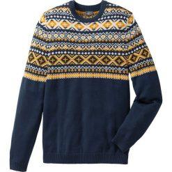 Sweter Regular Fit bonprix ciemnoniebieski. Niebieskie swetry klasyczne męskie marki bonprix, l. Za 59,99 zł.