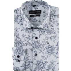 Koszula SIMONE slim KDNS000516. Szare koszule męskie na spinki marki S.Oliver, l, z bawełny, z włoskim kołnierzykiem, z długim rękawem. Za 169,00 zł.
