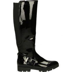 Kozaki ocieplane - 6395 VER NERO. Czarne buty zimowe damskie marki Kazar, ze skóry, na wysokim obcasie. Za 249,00 zł.