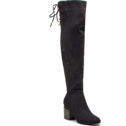Muszkieterki KAZAR - Tressa 34866-TS-00 Black. Czarne buty zimowe damskie marki Kazar, z materiału, na wysokim obcasie, na obcasie. Za 749,00 zł.
