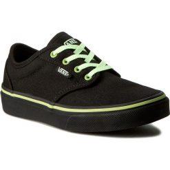 Tenisówki VANS - Atwood VN0003Z9K6N (Glow) Black/Black. Czarne trampki chłopięce marki Vans, z gumy, na sznurówki. W wyprzedaży za 149,00 zł.
