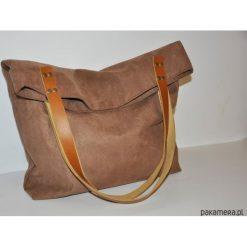Torba tote XXL - karmel. Pomarańczowe torebki klasyczne damskie Pakamera, ze skóry, duże. Za 129,00 zł.