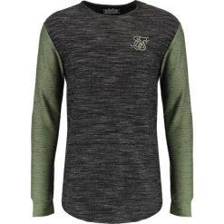 Koszulki polo: SIKSILK INJECT WAFFLE CONTRAST GYM TEE Tshirt basic black/khaki
