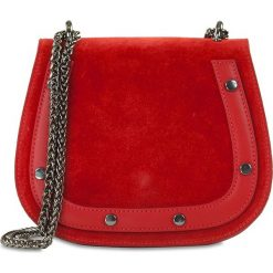 """Torebki klasyczne damskie: Skórzana torebka """"Amparo"""" w kolorze czerwonym – 20 x 17 x 8 cm"""