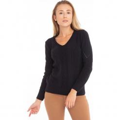 Sweter w kolorze granatowym. Niebieskie swetry klasyczne damskie Jimmy Sanders, l, z okrągłym kołnierzem. W wyprzedaży za 99,95 zł.