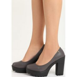 Szare Czółenka Airiness. Szare buty ślubne damskie Born2be, ze skóry, na wysokim obcasie, na platformie. Za 59,99 zł.