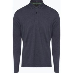 BOSS Athleisurewear - Męska koszulka polo – Pirol, niebieski. Niebieskie koszulki polo BOSS Athleisurewear, m, z długim rękawem. Za 429,95 zł.