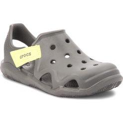 Sandały CROCS - Swiftwater Wave K 204021 204021. Szare sandały chłopięce marki Crocs, z materiału. Za 129,00 zł.