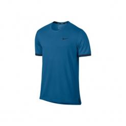 T-Shirt tenisowy Nike Dry Top Team. Niebieskie topy sportowe damskie marki Nike, s, ze skóry. W wyprzedaży za 99,99 zł.