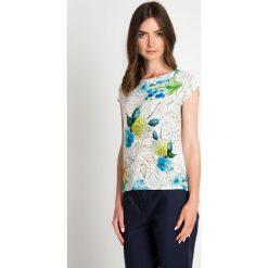 Bluzki damskie: Bluzka w malarskie kwiaty QUIOSQUE