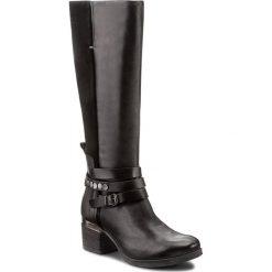 Kozaki KHRIO - 172K8015MIVVAX Nero/Nero/Nero. Czarne buty zimowe damskie marki Kazar, ze skóry, przed kolano, na wysokim obcasie, na obcasie. W wyprzedaży za 399,00 zł.