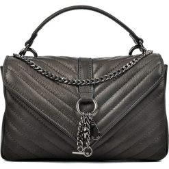 Torebki klasyczne damskie: Skórzana torebka w kolorze czarnym – 23 x 15 x 7,5 cm